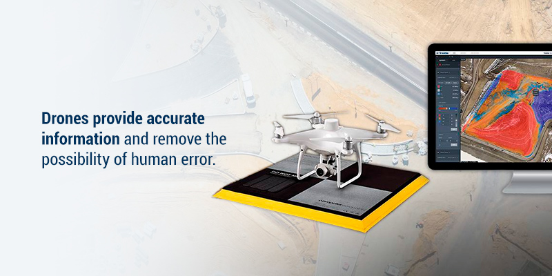 Drones provide accurate information and remove the possibility of human error.